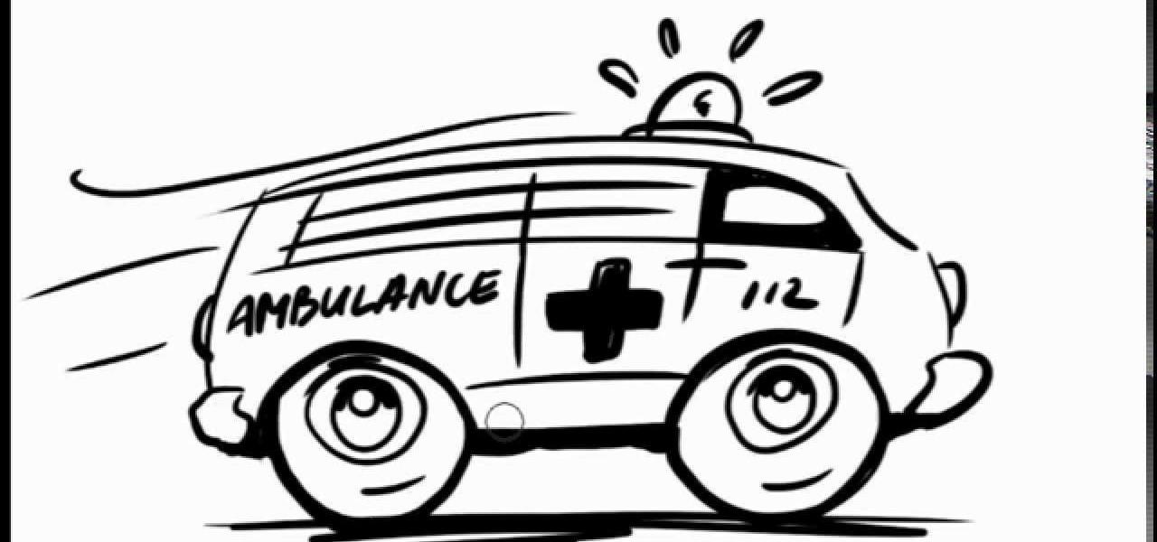 Ambulance Car Drawing How to Draw a Ambulance Car