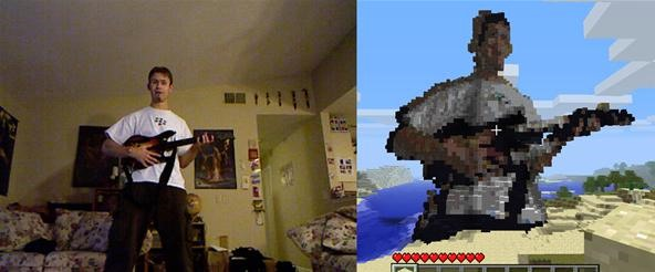 How to Turn Kinect Snapshots into 3D Statues in MineCraft