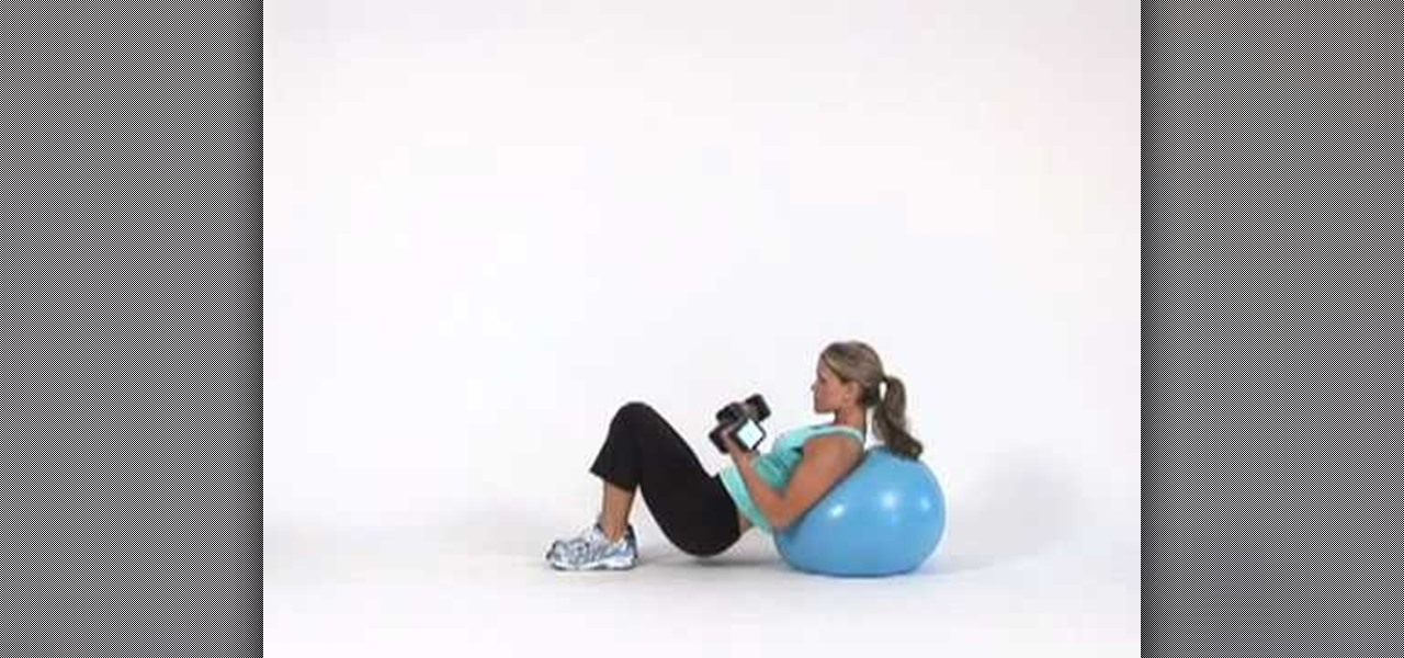 How To Do A Bicep Curl With An Exercise Ball Incline Exercise Equipment Wonderhowto