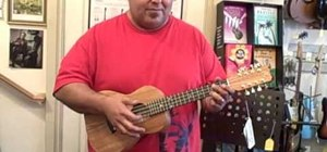 Tune an eight-string ukulele