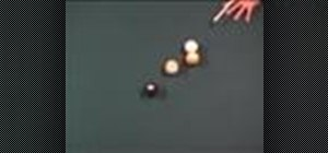 Cheat at pool with an illegal cue stick follow through