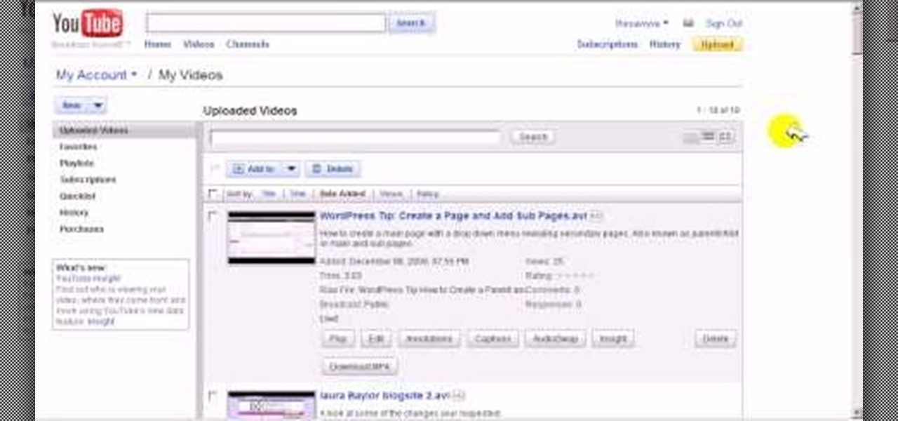 How to Change the video thumbnail on a YouTube video « Internet