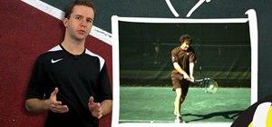 Use the tennis backhand follow through