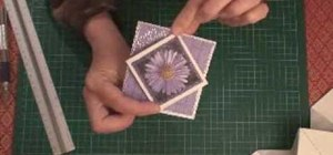 Make a diamond pop-up cracker card