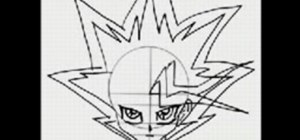 Draw the manga character Yu-Gi-Oh!