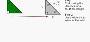 Find the sides of a 45-45-90 right triangle