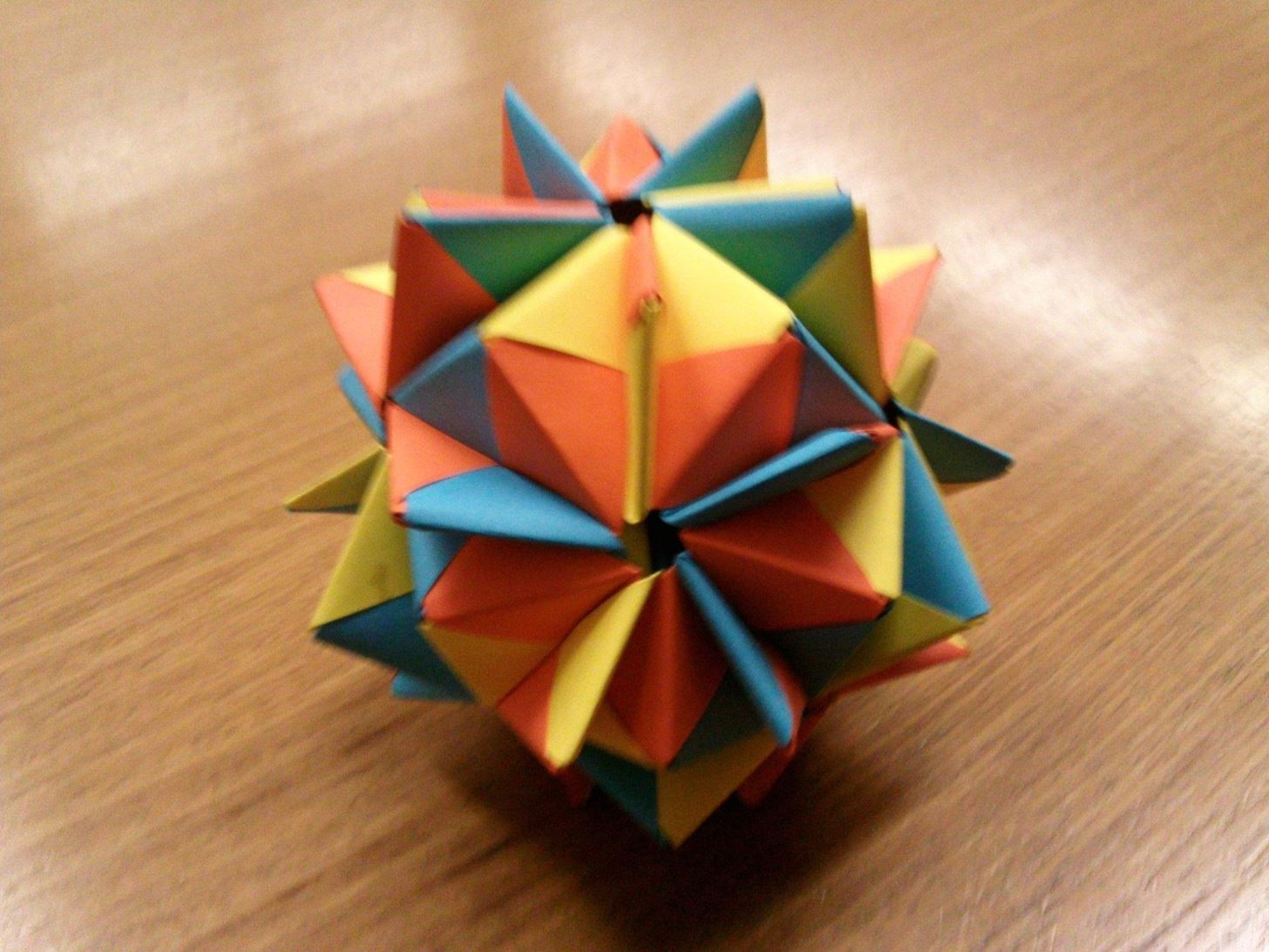 Modular Origami How To Make A Cube Octahedron Icosahedron From Advanced Diagrams Find Guide With Wiring Diagram Thanks Again