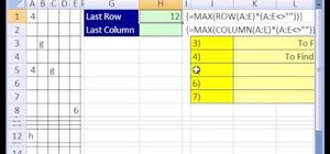 Find the last row or column used in an Excel data set