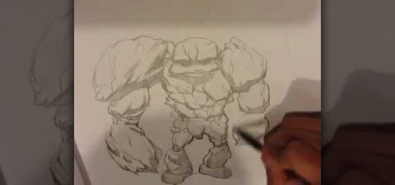 how to draw rocks easy