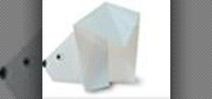 Origami a polar bear Japanese style