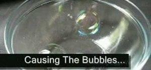 Make anti-gravity bubbles