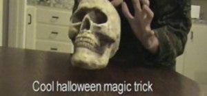 Perform a skull levitation trick