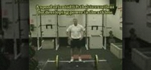 Properly execute the power snatch lift