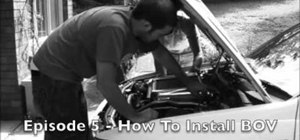 Install a blow off valve on a quad throttle body motor