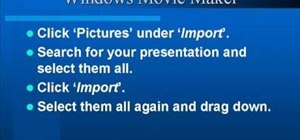Make a PowerPoint video presentation in Windows Movie Maker