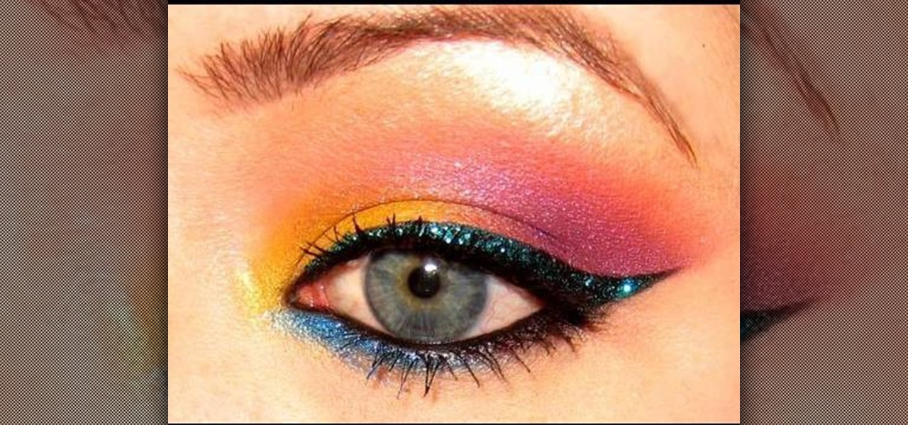 How To Apply Colorful Tropical 80s Eyes With Makeup Makeup - 80s-eye-makeup