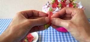 Fold an easy and cute origami strawberry