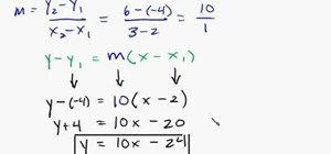 Find the equation of a line given 2 points
