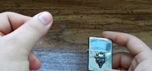 "Perform the ""Double Snap"" Zippo lighter trick"