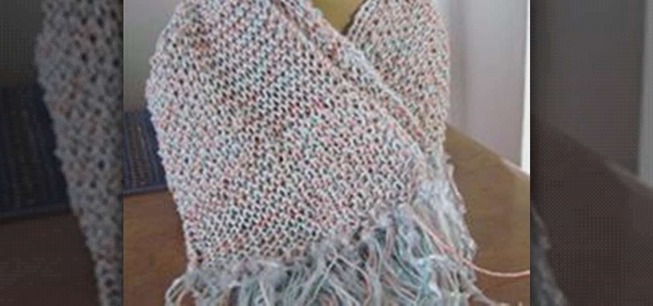 How To Make Fringe For A Scarf Knitting Crochet Wonderhowto
