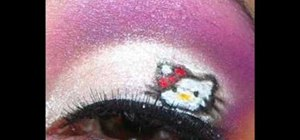 Create Hello Kitty inspired makeup