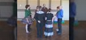 Square dance the Pass Thru, U Turn Back, Partner Trade