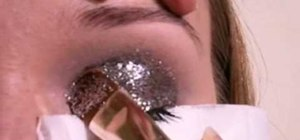 Apply glitter eye makeup