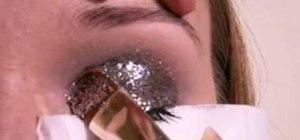 Apply glitter eye makeup
