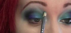 Apply blue ocean inspired eyeshadow