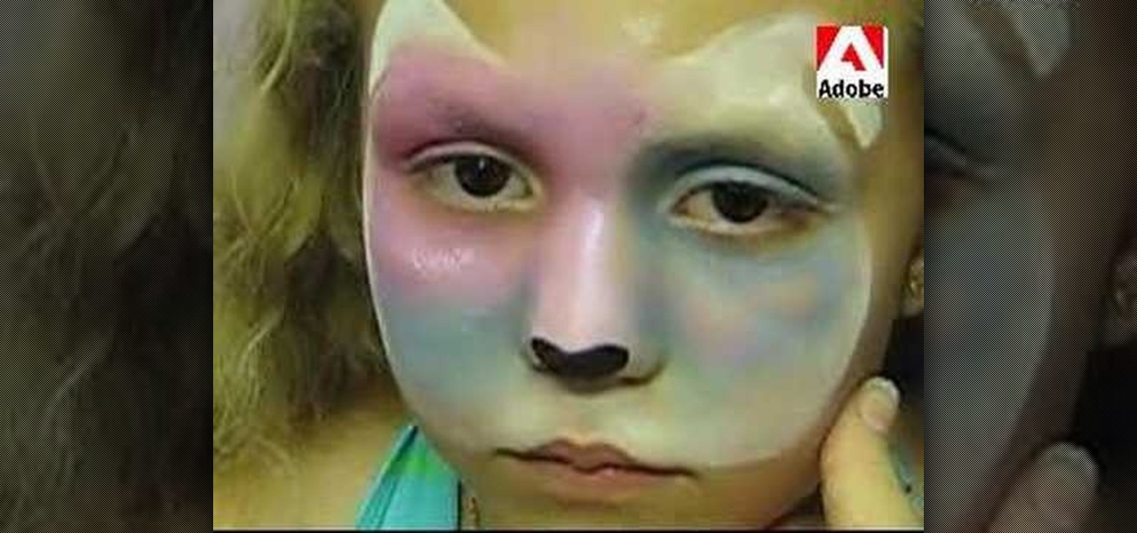 How to apply colorful puppy face paint kids activities for How to apply face paint