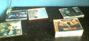 Make a hidden compartment using CDs