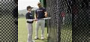 Practice the fence drill in baseball