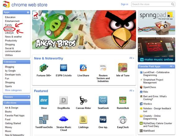 How to Get Angry Birds and Other Games on Google Chrome for Free