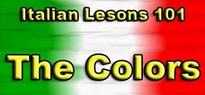 Say names of colors in Italian