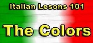 Say names of colors in Italian
