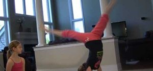 Perform an easy elbow stand in gymnastics (for kids)