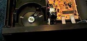 Fix a compact disc player drawer problem