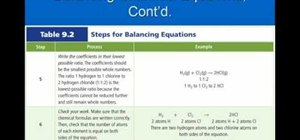 Balance chemical equations properly