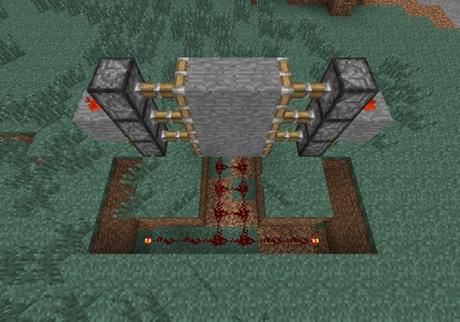 How To Create A Hidden Piston Door In Minecraft 171 Minecraft
