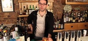 Make a gin & sherry Melee cocktail