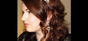 Style a cute and curly retro hairstyle