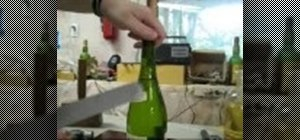Open a bottle of wine if you don't have a corkscrew