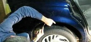 Remove the rear quarter panel from a Saturn S-Series