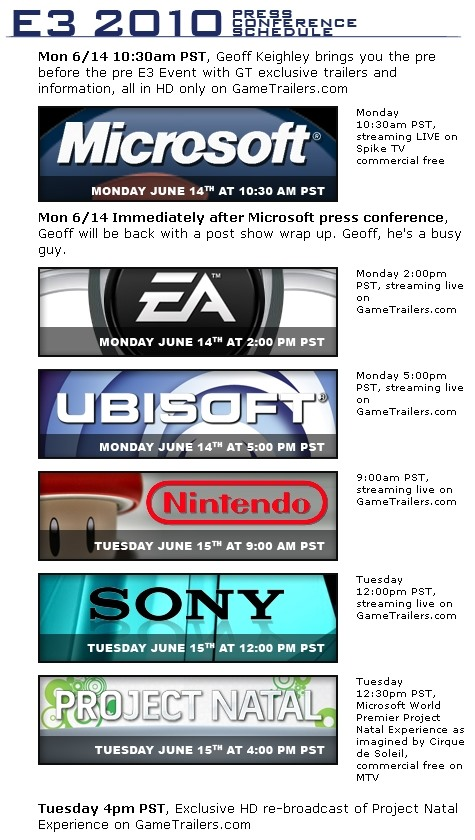 E3 is next week!