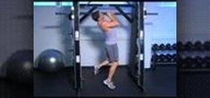 Do mock military pull ups on a squat rack