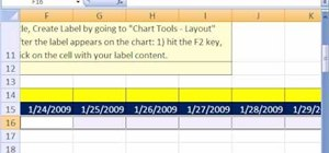 Create a dynamic weekly chart in Microsoft Excel
