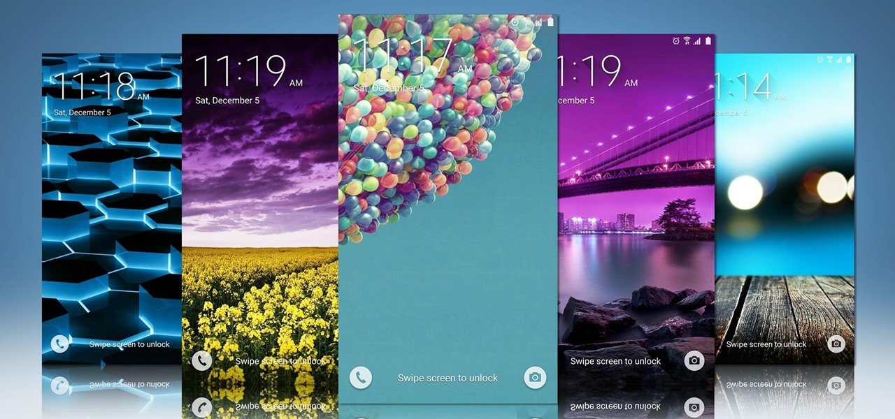 how to set rotating lock screen wallpapers on samsung