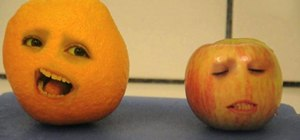 """Use Photoshop to create an """"Annoying Orange"""" video"""