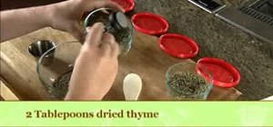 Dry herbs by placing them in the oven
