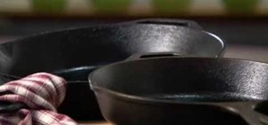 Season a cast-iron pan